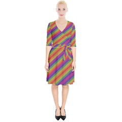 Spectrum Psychedelic Wrap Up Cocktail Dress