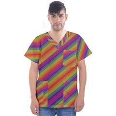 Spectrum Psychedelic Men s V Neck Scrub Top