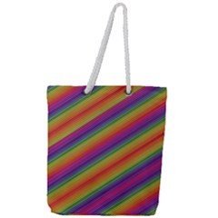 Spectrum Psychedelic Full Print Rope Handle Tote (large)