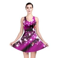 Background Christmas Star Advent Reversible Skater Dress