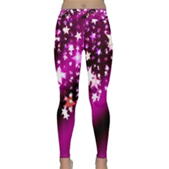 Background Christmas Star Advent Classic Yoga Leggings