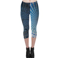 Data Computer Internet Online Capri Leggings