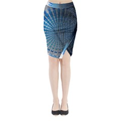 Data Computer Internet Online Midi Wrap Pencil Skirt