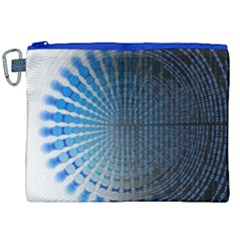 Data Computer Internet Online Canvas Cosmetic Bag (xxl)