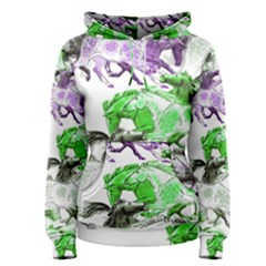 Horse Horses Animal World Green Women s Pullover Hoodie