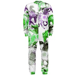 Horse Horses Animal World Green Onepiece Jumpsuit (men)