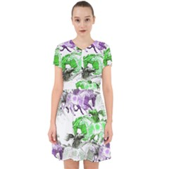 Horse Horses Animal World Green Adorable In Chiffon Dress