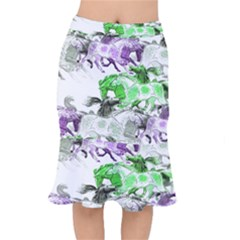 Horse Horses Animal World Green Mermaid Skirt