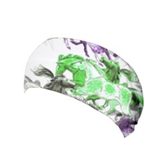 Horse Horses Animal World Green Yoga Headband