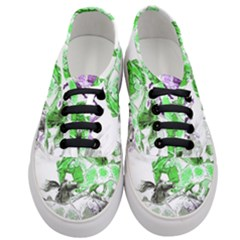 Horse Horses Animal World Green Women s Classic Low Top Sneakers