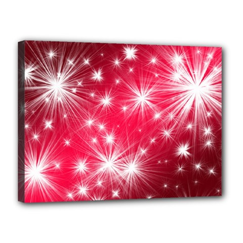 Christmas Star Advent Background Canvas 16  X 12