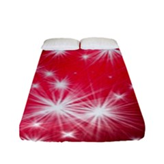 Christmas Star Advent Background Fitted Sheet (full/ Double Size)