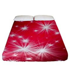 Christmas Star Advent Background Fitted Sheet (king Size)