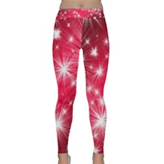Christmas Star Advent Background Classic Yoga Leggings