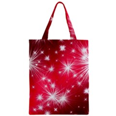 Christmas Star Advent Background Zipper Classic Tote Bag