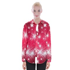 Christmas Star Advent Background Womens Long Sleeve Shirt