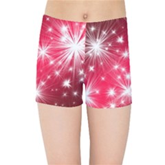 Christmas Star Advent Background Kids Sports Shorts