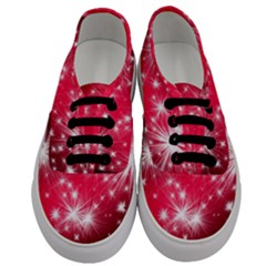 Christmas Star Advent Background Men s Classic Low Top Sneakers