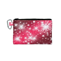 Christmas Star Advent Background Canvas Cosmetic Bag (small)