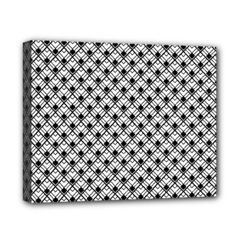 Geometric Scales Pattern Canvas 10  X 8