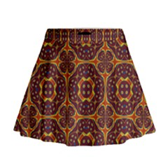 Geometric Pattern Mini Flare Skirt