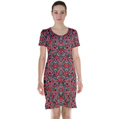 Exotic Intricate Modern Pattern Short Sleeve Nightdress