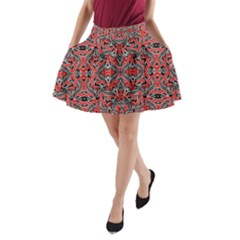 Exotic Intricate Modern Pattern A Line Pocket Skirt