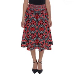 Exotic Intricate Modern Pattern Perfect Length Midi Skirt