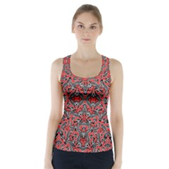 Exotic Intricate Modern Pattern Racer Back Sports Top