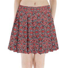 Exotic Intricate Modern Pattern Pleated Mini Skirt