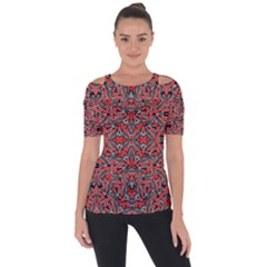 Exotic Intricate Modern Pattern Short Sleeve Top