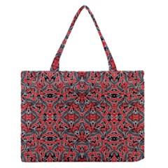 Exotic Intricate Modern Pattern Zipper Medium Tote Bag