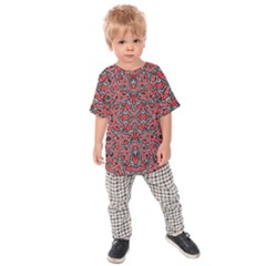 Exotic Intricate Modern Pattern Kids Raglan Tee
