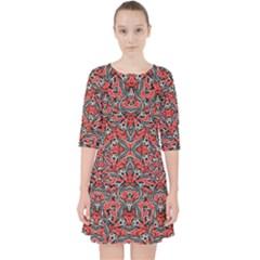Exotic Intricate Modern Pattern Pocket Dress