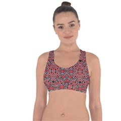 Exotic Intricate Modern Pattern Cross String Back Sports Bra