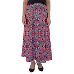 Exotic Intricate Modern Pattern Flared Maxi Skirt