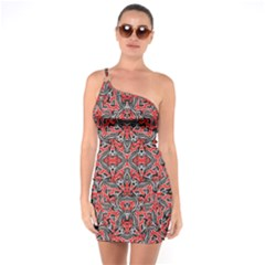 Exotic Intricate Modern Pattern One Soulder Bodycon Dress
