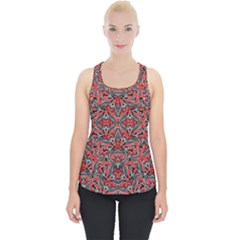 Exotic Intricate Modern Pattern Piece Up Tank Top