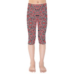 Exotic Intricate Modern Pattern Kids  Capri Leggings