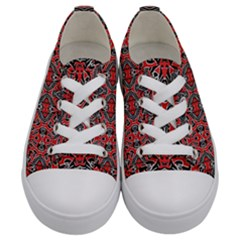 Exotic Intricate Modern Pattern Kids  Low Top Canvas Sneakers