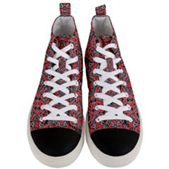 Exotic Intricate Modern Pattern Men s Mid Top Canvas Sneakers