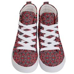 Exotic Intricate Modern Pattern Kid s Hi Top Skate Sneakers