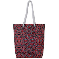 Exotic Intricate Modern Pattern Full Print Rope Handle Tote (small)