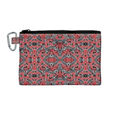 Exotic Intricate Modern Pattern Canvas Cosmetic Bag (medium)