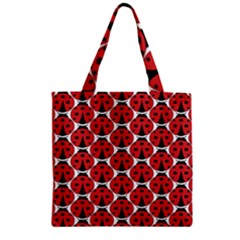 Ladybugs Pattern Zipper Grocery Tote Bag
