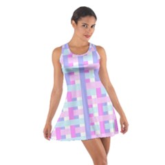 Gingham Nursery Baby Blue Pink Cotton Racerback Dress