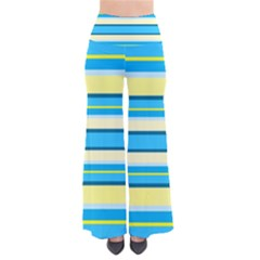 Stripes Yellow Aqua Blue White Pants