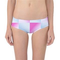 Gradient Blue Pink Geometric Classic Bikini Bottoms
