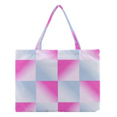 Gradient Blue Pink Geometric Medium Tote Bag