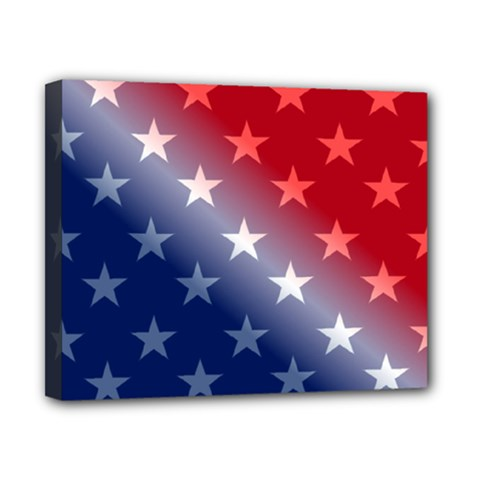 America Patriotic Red White Blue Canvas 10  X 8